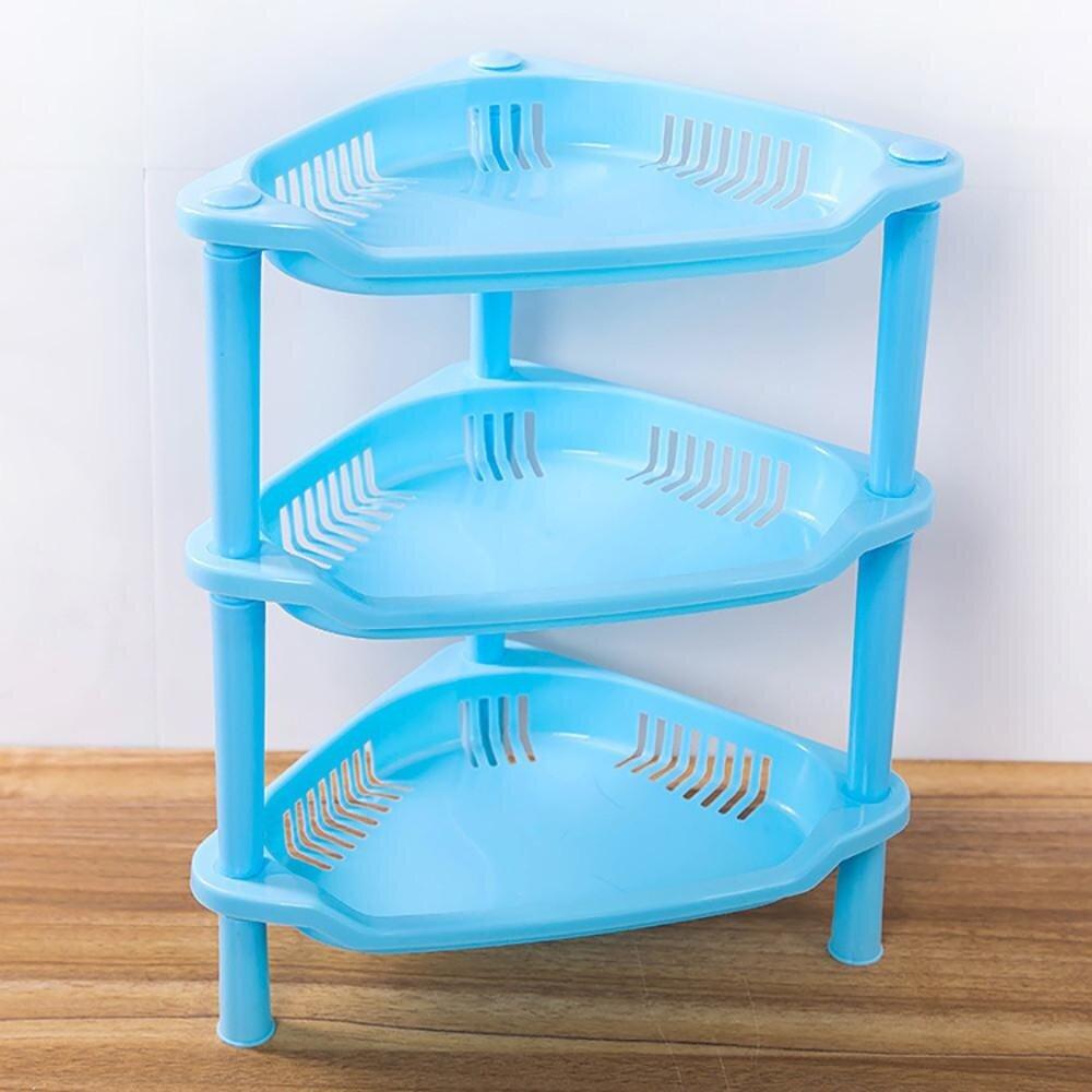 3 Tier Plastic Corner Organizer Bathroom Caddy Shelf KitchenStorage ...