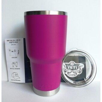แก้วเยติ แก้วน้ำเก็บอุณหภูมิ 30 ออนซ์ สีม่วงชมพู