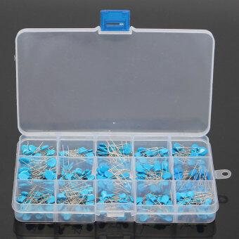 300pcs 15value 50V 0.1nF~22nF Ceramic Capacitors AssortmentAssorted Kit Box 10%