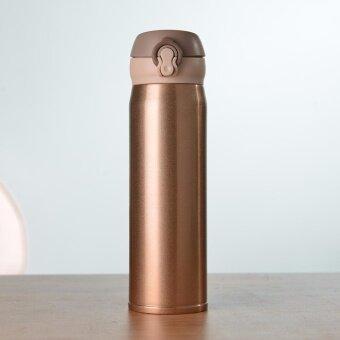 จัดโปรโมชั่น กระติกน้ำ เก็บความร้อนความเย็น สแตนเลส 304 ขนาด 500ml สีทอง