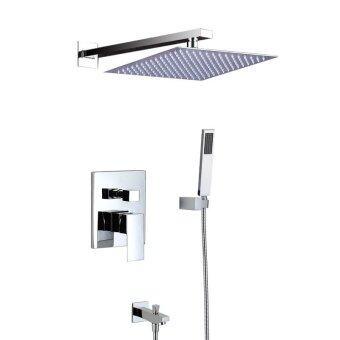 304 heated shower screen shower kit hot and cold-gold rain showerfaucet smart heated waterfall SPA II Heated Mirror, section IIIheated high-end black - intl