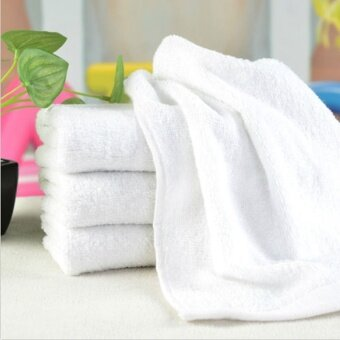 30*60cm Portable Terry Towel Hotel Bath Towel Washcloths HandTowelsWhite Soft Microfiber Fabric Face Towel - intl