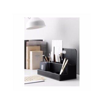 ที่วางปากกาและเครืองเขียน สีดำ ขนาด 32x16x23 ซม.(New Home)