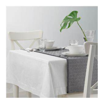ผ้าคาดโต๊ะ ดำ ขาว ขนาด 35x130 ซม.
