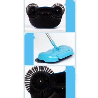 ไม้กวาดอัจฉริยะ 360degree Rotating Hand-push Type Dust Mop FloorSweeper(Blue) - 3