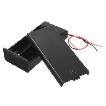 3.7V 2x 18650 Battery Holder Connector Storage Case Box ON/OFF Switch With Lead - intl
