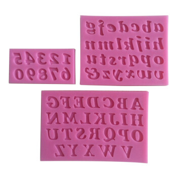 3PCS Mini Silicone Cake Mould Handmade Letter And Number Fondant\nCraft Cake Decorating Mold DIY Bakeware For Kitchen Baking Pink
