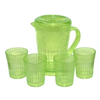 ชุดเหยือกน้ำ + แก้ว 4 ใบ 1600 ml. (สีเขียว)
