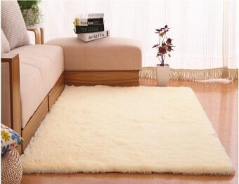 4 cm silk hair living room coffee table bedroom carpet Beige