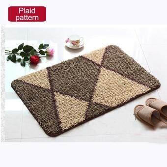 40x120cm Pattern Printed Bathroom Carpets Doormats Anti-Slip Polyester Floor Mat Pad for Living Room Bath Kitchen - Plaid Pattern - intl