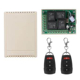 433Mhz 12V 4CH Channel Wireless Remote Control Relay SwitchReceiver Module + 2 Transmitter
