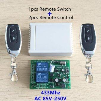 433Mhz Universal Wireless Remote Control Switch AC 250V 110V 220V2CH Relay Receiver Module and 2pcs RF 433 Mhz Remote Controls -intl