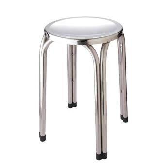 เก้าอี้สแตนเลสกลม ขาสูง 47 ซม.