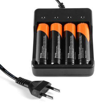 4pcs 18650 Rechargeable Battery + 4-Channel Lithium-Ion BatteryCharger