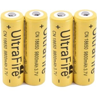 4Pcs UltraFire 9800mAh 18650 Rechargeable Lithium Li-ionBattery(Yellow)