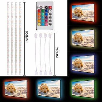 4x 0.5M USB RGB Color Mood Changing LED Strip TV Background LightRemote