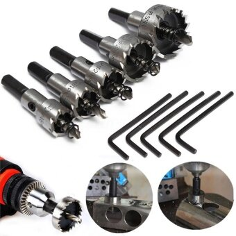 5 Pcs High Quality HSS Drill Bit Hole Saw Set Stainless Steel MetalAlloy 16-30mm Tool Kit - intl