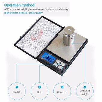 500g X 0.01g Electronic Notebook Scale เครื่องชั่งน้ำหนักดิจิตอล 500 กรัม ตาชั่งดิจิตอล เครื่องชั่งน้ำหนักอาหาร เครื่องชั่งน้ำหนัก เครื่องชั่งสูตรอาหาร ตาชั่งอาหาร ที่ชั่งดิจิตอล ตราชั่งน้ำหนักอาหาร เครื่องชั่งในครัว ตราชั่งสินค้า เครื่องตวงอาหาร (Black) - 2