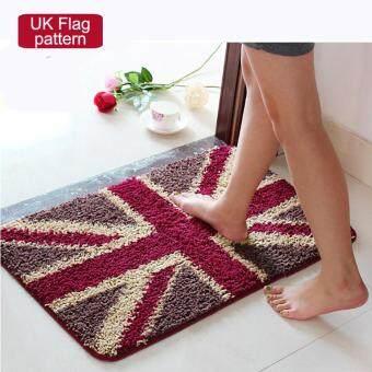50x80cm Pattern Printed Bathroom Carpets Doormats Anti-Slip Polyester Floor Mat Pad for Living Room Bath Kitchen - UK Pattern - intl