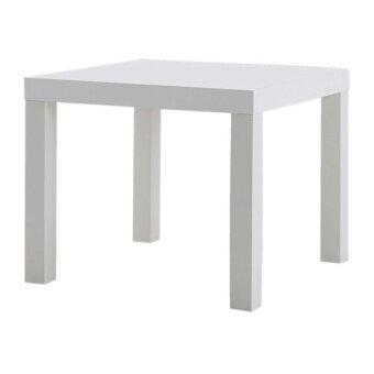 ลัค โต๊ะข้าง ขนาด 55x55x45 cm. สีขาว