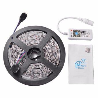 5M RGB 5050 150 LEDs Wireless Flexible Strip Light Home PartyDecoration Light Lamp + Wifi Controller Phone Free APP for iOSAndroid
