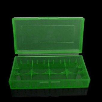 5Pcs 18650/16340/CR123A Transparent Blue Battery Case HolderStorage Box (Green)- - intl