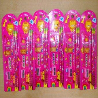อยากขาย ชุดดินสอ 6แพ็ค สีชมพู