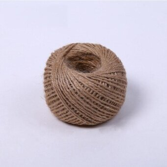 6 PCS 30 Meters 3Ply Natural Arts Crafts Jute Rope Durable PackingString for Gardening Applications(6pcs x 30 Meters) - intl - 3