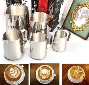 600ML Stainless Steel Frothing Pitcher Milk Coffee Tea Jug KitchenThermo Cup Craft Japanese-style Espresso Steaming Frothing Pitcher- intl
