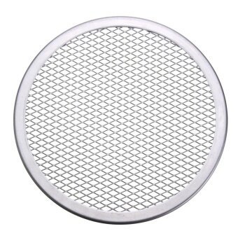 6pcs Seamless Rim Aluminium Mesh Pizza Screen Baking Tray Net Bakeware Cooking Tool 8'' - intl