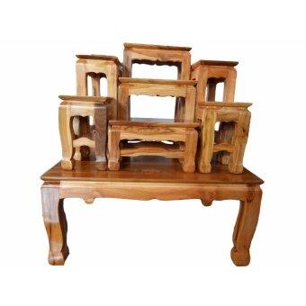 ประกาศขาย โต๊ะหมู่บูชาไม้สัก หมู่ 7 หน้า 3