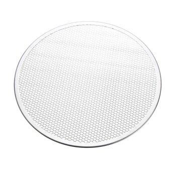 7pcs Seamless Rim Aluminium Mesh Pizza Screen Baking Tray Net Bakeware Cooking Tool 14'' - intl