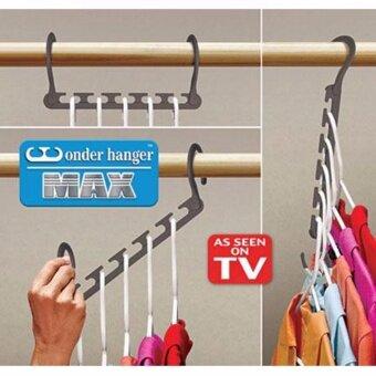 ไม้แขวนเสื้อจัดระเบียบ ขยายพื่นที่ตู้เสื้อผ้า 8ชิ้น แขวนได้ 40 ตัว