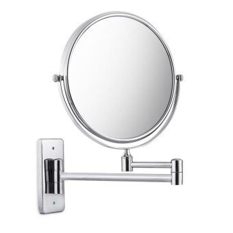 8 Inch Double Sides Swivel Wall Mounted Makeup Mirror Square Base -intl