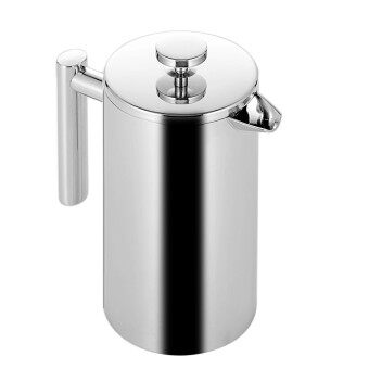 800ml Double Wall Stainless Steel Insulated Coffee Teapot French Coffee Press Maker Pot With Filter - intl