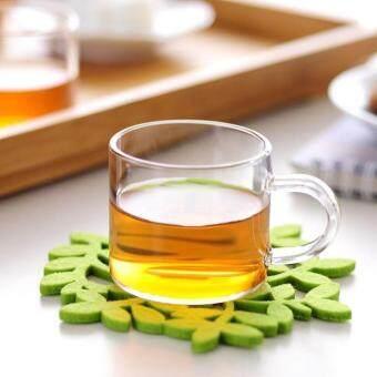 80ml มือกับทนความร้อนแก้วถ้วยชาถ้วย