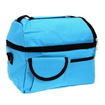 8L Square Thermal Bag Women Men Lunch Bag(Sky Blue)