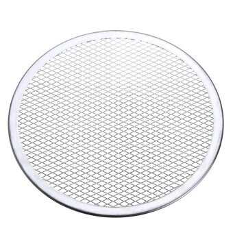 8pcs Seamless Rim Aluminium Mesh Pizza Screen Baking Tray Net Bakeware Cooking Tool 10'' - intl