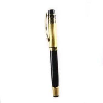 สร้างวีรบุรุษ 901 ไซส์กลางปลายปากกาหมึกซึมหรูสีดำ และทองสแตนเลส-