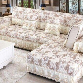 ต้องการขายด่วน 90*210CM Four Seasons Linen Sofa Cushion Beige - intl