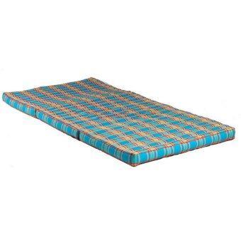 ที่นอนแบบพับเก็บได้ ขนาดใหญ่ ขนาด 90*8*180 ซม. สีฟ้า