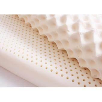 หมอนยางพาราแท้ เกรดA (Natural Latex) ทรง Rough Contour หุ้มปลอกผ้านิ่มกันไรฝุ่น