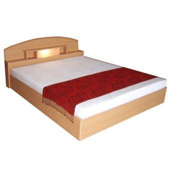 ADD เตียงนอนหัวโค้งพร้อมที่นอนสปริงลอนดอน ขนาด 5 ฟุต รุ่น BCL -501สีบีช