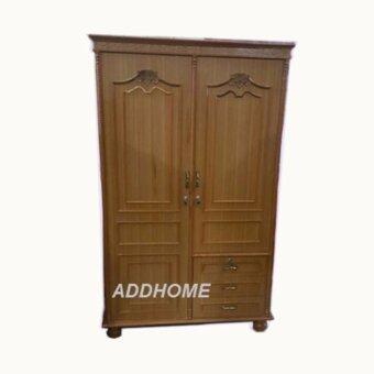 ADD-WK001 ตู้เสื้อผ้าไม้อัดสักขนาด 1.20 ซม. 3 ลิ้นชัก