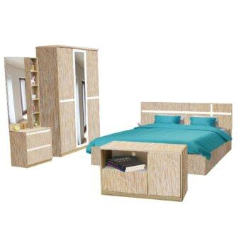 ADDHOME ชุดห้องนอน ขนาด 5 ฟุต รุ่น Milan-5 (สีโซลิด)