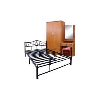 ADDHOME ชุดห้องนอนอพาร์ทเม้น(Set 3 ชิ้น) ขนาด 3.5 ฟุต รุ่น SuperSave-3.5 (สีบีช)