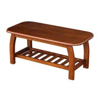 ADHOME โต๊ะกลางไม้ยางพารา ขนาด 107 ซม. รุ่น Village (สีสัก)