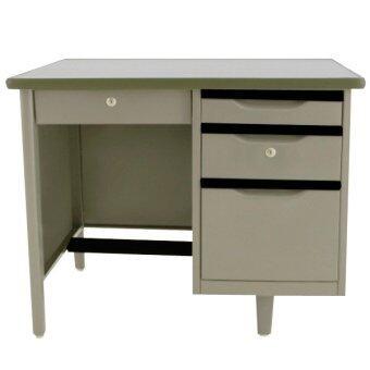ADHOME โต๊ะทำงานเหล็ก ขนาด 3.5 ฟุต รุ่น TM-3.5 (สีเทา)