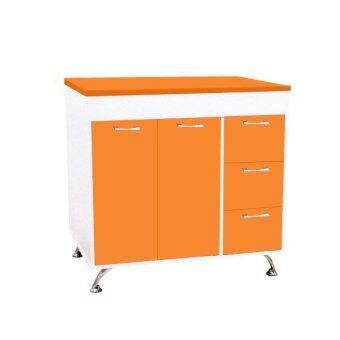 Adhome ตู้เคาน์เตอร์ครัว ขนาด 80 ซม. รุ่น K-80 (สีขาวส้ม)