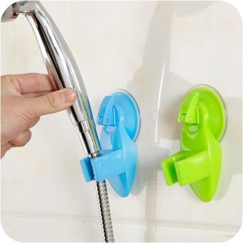 Adjustable Shower Head Suction Cup Holder Free Of Charge Bathroom(Blue) - intl